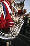 Franse Hoorn in een het Marcheren Band Stock Foto's