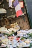 Franse kaas, markt Stock Afbeeldingen