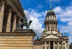 Franse Kathedraal in Gendarmenmarkt in Berlijn Royalty-vrije Stock Foto