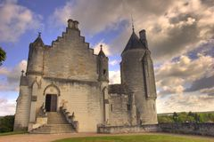 Franse kerk HDR aan Loches Royalty-vrije Stock Afbeelding