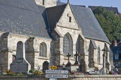 Franse kerk in Normandië Frankrijk van 15de eeuw Royalty-vrije Stock Afbeelding