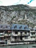 Franse kleine stad royalty-vrije stock fotografie