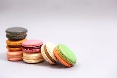 Franse kleurrijke macarons Royalty-vrije Stock Foto