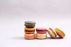 Franse kleurrijke macarons Royalty-vrije Stock Foto's