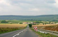 Franse landweg royalty-vrije stock afbeelding