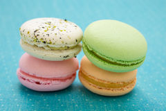 Franse Macaron-Koekjes Royalty-vrije Stock Afbeelding