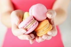 Franse macarons Stock Afbeeldingen