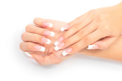 Franse manicure Stock Afbeelding
