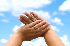 Franse manicure Royalty-vrije Stock Afbeeldingen