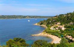 Franse Mediterrane kust Royalty-vrije Stock Afbeeldingen
