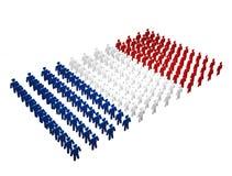 Franse Mensen - de vlag van Frankrijk Stock Afbeeldingen