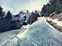 Franse Moutain-Alpen stock fotografie