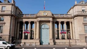 Franse Nationale assemblee in Parijs, Frankrijk stock video