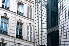 Franse nieuwe oud van de Architectuur een illusie Royalty-vrije Stock Afbeeldingen