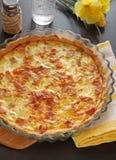 Franse pastei, Quiche Lotharingen Stock Foto's