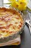 Franse pastei, Quiche Lotharingen Royalty-vrije Stock Foto's