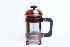 Franse perskoffie en lege theemaker, Royalty-vrije Stock Afbeeldingen