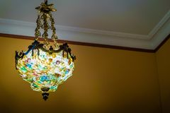Franse plafondlamp Stock Foto