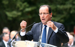 Franse politicus Francois Hollande Stock Foto