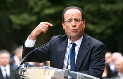 Franse politicus Francois Hollande Stock Afbeelding