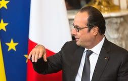 Franse President Francois Hollande Stock Foto