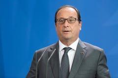 Franse President Francois Hollande Stock Fotografie