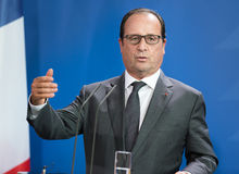 Franse President Francois Hollande Stock Afbeelding