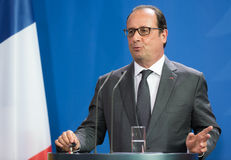 Franse President Francois Hollande Royalty-vrije Stock Afbeelding