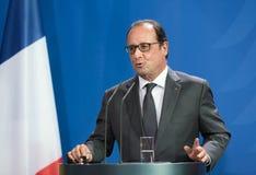 Franse President Francois Hollande Stock Afbeeldingen