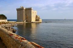 Franse Riviera, de Lerins-Eilanden: versterkt klooster van abbe stock afbeelding