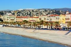 Franse Riviera, de stad van Nice, Quai des Etats-unis royalty-vrije stock foto's