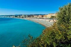 Franse riviera van Nice Stock Afbeeldingen