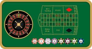 Franse roulette vectorillustratie vector illustratie