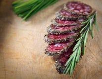 Franse salami met rozemarijn Royalty-vrije Stock Afbeelding