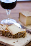Franse smakelijke kaas Royalty-vrije Stock Afbeelding