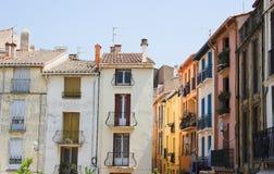 Franse stad van Collioure Stock Afbeeldingen