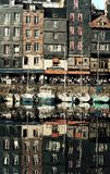 Franse straat in de rivier Stock Afbeeldingen