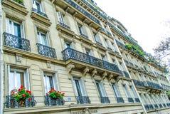 Franse straat in Parijs Stock Foto