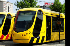 Franse tram in Mulhouse Royalty-vrije Stock Foto's
