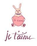 Franse van letters voorziende kaart Stock Foto