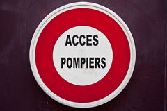 Franse Verkeersteken Royalty-vrije Stock Afbeeldingen