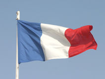 Franse vlag Royalty-vrije Stock Fotografie