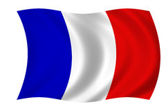 Franse vlag stock illustratie
