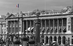 Franse Vlag in de Plaats DE La Concorde, Avenue des Champs Elysees, Parijs, Frankrijk Royalty-vrije Stock Fotografie