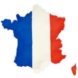 Franse vlag die als Frankrijk wordt gevormd Stock Afbeelding