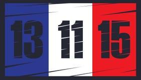 Franse vlag op donkere achtergrond Stock Afbeeldingen