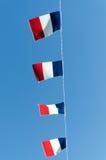 Franse vlaggen Royalty-vrije Stock Foto's