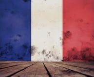 Franse vlagtextuur vector illustratie