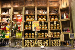 Franse voedselwinkel in Lyon Stock Fotografie