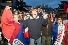 Franse voetbalventilator Stock Foto's